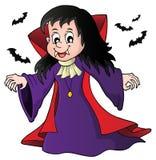 Vampire girl theme image 1 Royalty Free Stock Image