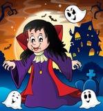 Vampire girl theme image 3 Stock Image