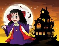 Vampire girl theme image 6 Royalty Free Stock Photos