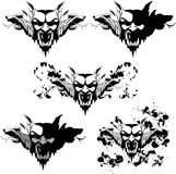 Vampire golem. Vector set of a vampire golem with different textures and decorations Royalty Free Stock Photos