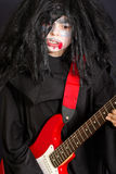 Vampire with guitar Stock Photo