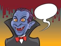 Vampire Halloween cartoon character Stock Images