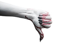 Vampire hand with thumb down gesture Stock Photography