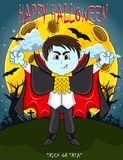 Vampire For Happy Halloween with background royalty free stock image