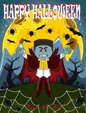 Vampire For Happy Halloween with background royalty free stock photography