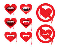Vampire heart Royalty Free Stock Photo