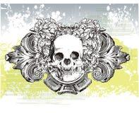 Vampire heraldrry illustration Stock Image