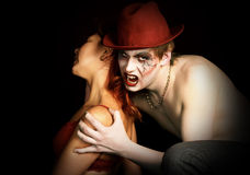 Vampire and his victim. Royalty Free Stock Photo