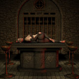 Vampire Hunter - Halloween Figure Stock Photography