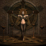 Vampire Hunter - Halloween Figure Stock Photos