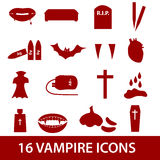 Vampire icon set eps10. Red vampire icon set eps10 Royalty Free Stock Images