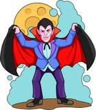 Vampire. Insidious vampire seeks his prey vector illustration