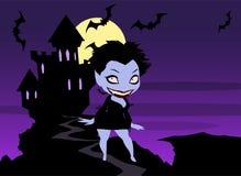 Vampire lady Stock Photography