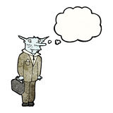 vampire lawyer cartoon character Stock Photography