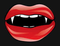 Vampire lips Royalty Free Stock Image