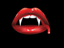 Vampire Lips With Blood Royalty Free Stock Image