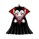 Vampire man cartoon character. Vector isolated Illustration royalty free illustration