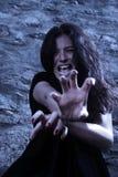 Vampire at a moonlight. Portrait vampire at a moonlight Stock Photo