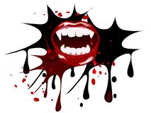 Vampire mouth Stock Photos