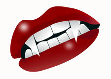 Vampire mouth. An illustration of a mouth with vampire teeth Stock Photos