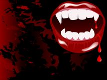 Vampire mouth Stock Images