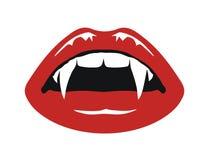 Vampire mouth Royalty Free Stock Photo