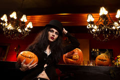 Vampire next to bar Stock Image
