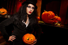 Vampire next to bar Royalty Free Stock Image