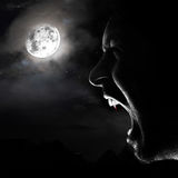 Vampire night royalty free stock photo