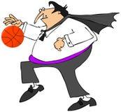 Vampire playing basketball Stock Photography