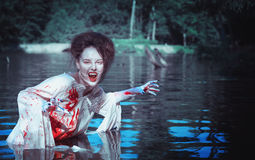 Vampire in the river Royalty Free Stock Photos