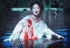 Vampire in the river Royalty Free Stock Photography