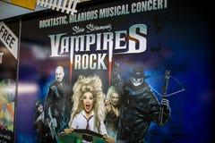 Vampire Rocks poster stock photos