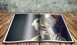 Vampire's kiss. Royalty Free Stock Photos