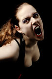 Vampire screaming Stock Image