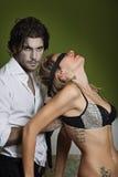 Vampire seduction Royalty Free Stock Photography