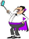 Vampire with a selfy stick Royalty Free Stock Photos