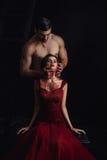 Vampire sexy de fille Photographie stock libre de droits