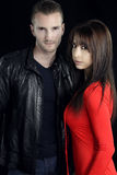 A vampire story - attractive couple Stock Photography