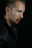 A vampire story - handsome vampire Stock Photography