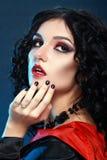 Vampire style make up Royalty Free Stock Photo