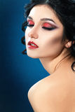 Vampire style make up Stock Photos