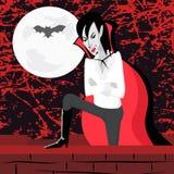 Vampire sur le mur Images stock
