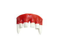 Vampire teeth. On white background Royalty Free Stock Photography