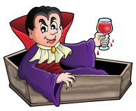 Vampire theme image 1 Stock Photo