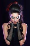 Vampire victorian style woman stock photos