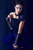 Vampire victorian style woman Stock Image