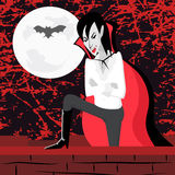 Vampire on the Wall Stock Images