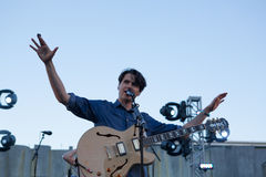 Vampire Weekend performs in San Francisco Stock Photography