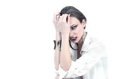Vampire on white Stock Images